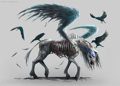 Pathfinder: Pegasus Zombie by *telthona on deviantART