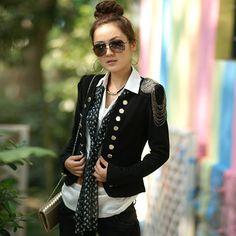 2014 new hot Fashion Cozy women clothes Shawl Coat blazer slim Wild suit Jacket No collar SlimRA