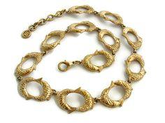 #Givenchy necklace Koi Fish Statement jewelry Gold choker