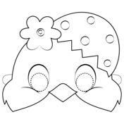 Easter Chick Mask coloring page from Easter category. Select from 31983 printable crafts of cartoons, nature, animals, Bible and many more. Bunny Crafts, Easter Crafts For Kids, Easter Templates, Paper Mache Animals, Puppets For Kids, Diy Ostern, Rock Painting Designs, Easter Activities, Printable Crafts