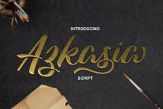 FREE font of the week: Azkasia is a cool, painterly brushed letterscript that is perfect for displays and headline uses. This font comes with stylistic alternates so you can make completely customized and unique designs!