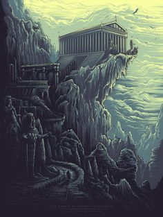 The Temple of Artemis at Ephesus [The Seven Ancient Wonders] by Dan Mumford