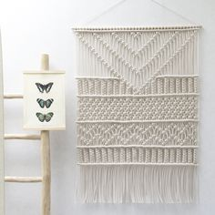 "Large Macrame Wall Hanging ""FLOATING TRIANGLES"" / Modern Macrame / Wall Art / Boho Wall Hanging / Wall Tapestry / Macrame Tapestry by TeddyandWool on Etsy https://www.etsy.com/au/listing/281388074/large-macrame-wall-hanging-floating"