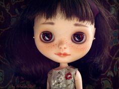 Custom Blythe doll,  ooak  handpainted art doll by AlmondDoll. €540.00, via Etsy.