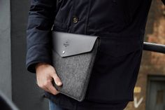 """New Macbook Pro Touch Bar Envelope and MacBook Pro Retina 13 """"Leather Sleeve Case and Wool Felt Laptop Cover Handmade Macbook 13 Inch, Newest Macbook Pro, New Macbook, Macbook Pro Retina, Macbook Case, New Ipad Pro, Ipad Pro 12 9, Funda Ipad Pro, Leather"""
