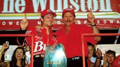 The Earnhardt's celebrate Dale Jr's win at the 2000 Winston.