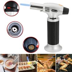 Windproof Creme Brulee Culinary Butane Refillable cook Torch Jet Flame Lighter #readyforten #cookingtorch Best Cooking Oil, Cooking Bread, Creme Brulee Torch, Kitchen Torch, Cooking Games For Kids, Culinary Chef, High End Kitchens, Sous Vide Cooking