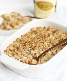 HEALTHY APPEL CRUMBLE Healthy Sweets, Healthy Breakfast Recipes, Healthy Snacks, Healthy Recipes, Healthy Life, Vitamine B17, Healthy Apple Crumble, Low Gi Foods, Salad