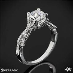 Verragio 4 Prong Twisted Shank Diamond Engagement Ring