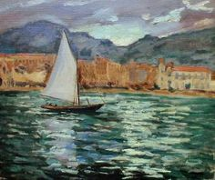 'Boat in Cannes Harbour' which was painted in 1930. During his lifetime, Sir Winston Churchill painted over 500 paintings, mainly landscape but also a few portraits.