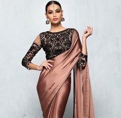 How to Select the Best Modern Saree for You? Lace Saree, Satin Saree, Saree Dress, Silk Satin, Sari Blouse, Dress Lace, Indian Attire, Indian Wear, Indian Style