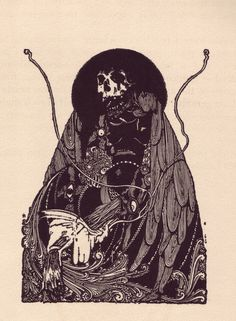 Harry Clarke, from Poe's 'Tales of Mystery and Imagination'.  Would make a hell of a metal cover.