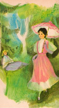 Rebecca of Sunnybrook Farm illustrated by June Goldsborough, 1965.