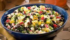 Black Bean, Grilled Pineapple, Cucumber Salad