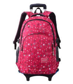 Wheels Removable Trolley Backpack Children School Bag for Boys Girls Travel Bags (Free shipping)