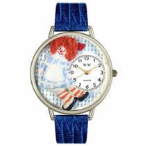 Vintage Raggedy Ann Watch in Silver (Large)