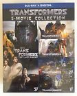 TRANSFORMERS  5 - MOVIE COLLECTION  Blu-Ray  Digital  New  Factory Sealed