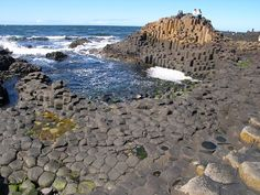The land of Ireland is full of wonders that mother Earth creates to enchant & fascinate its creatures.  Giant's Causeway is an ancient looking coastal area, full with 40,000 interlocking basalt columns, located in County Antrim, northeast coast of Northern Ireland. Columns form steeping stones, which lead from cliff foot vanishing down to sea.