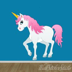 Hey, I found this really awesome Etsy listing at https://www.etsy.com/uk/listing/187259163/unicorn-wall-decal-fabric-wall-decal