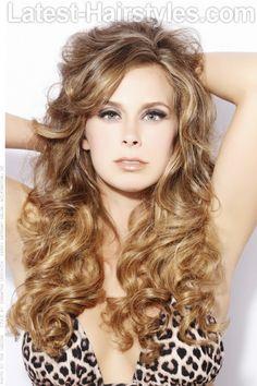 Long Golden Ombre Curls