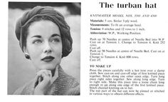 technically a knitting machine pattern, but I love her makeup/brows!