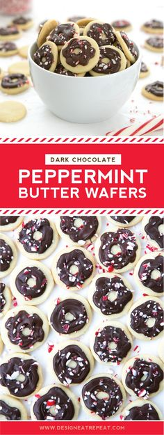 Dark Chocolate Peppermint Butter Wafers