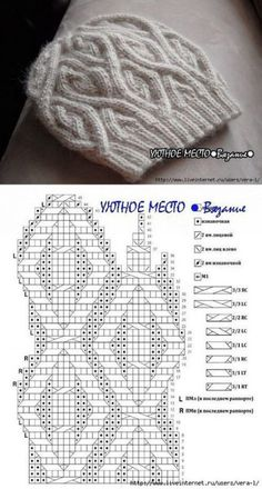 Lovely striped blanket with white between - Strickmuster Mütze knit hat Knitting Paterns, Knitting Charts, Knitting Stitches, Knit Patterns, Knitting Projects, Stitch Patterns, Cable Knit Hat, Cable Knitting, Hand Knitting