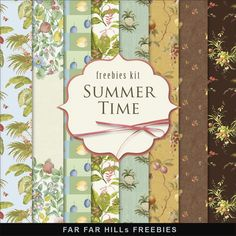 Far Far Hill - Free database of digital illustrations and papers: New Freebies Kit of Background - Summer Time