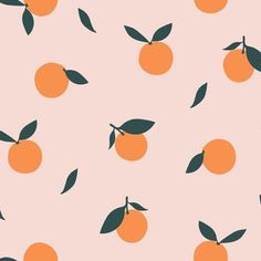 Colorful fabrics digitally printed by Spoonflower - Clementine - Blush