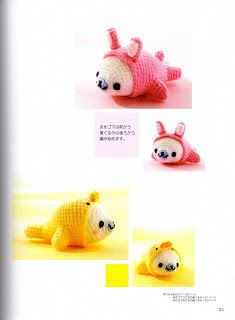 """MOSSITA BELLA CROCHET PATTERNS AND GRAPHICS"" Amigurmis Adorable = 0) Bear, Chicken, Duck, Rabbit, Cat and +. FREE GRAPH 12/14."