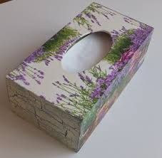 Resultado de imagen de galeria decoupage Tissue Box Covers, Tissue Boxes, Crafts To Make, Arts And Crafts, Mixed Media Boxes, Kleenex Box, Decoupage Box, Box Design, Wooden Boxes