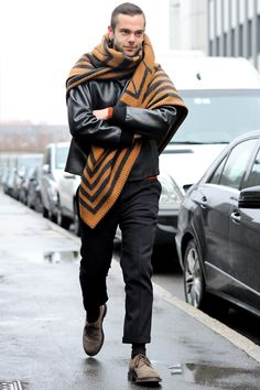 I love the idea of European men walking around with Louis Vuitton blankets just wrapped around them....do Americans do this?
