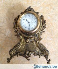 Gebruikt: Koperen klok en kandelaars (Klokken & Barometers) - Te koop voor € 120,00 in Dilbeek Schepdaal