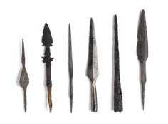 This selection of arrowheads is from excavations carried out by the National Museum at various sites in Viking Dublin. Arrowheads such as these would have been used by Sitric's forces at the Battle of Clontarf.