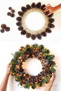 Beautiful DIY pine cone crafts for kids & adults! Best ideas to make free pinecone decorations & easy gifts from spring to fall & Christmas! - A Piece of Rainbow #pinecones #pineconecrafts #diy #homedecor home decor ideas, #diyhomedecor #thanksgiving #christmas #christmasdecor #crafts #fall #winter #farmhouse #vintage #farmhousestyle farmhouse, wedding, flowers #centerpiece Thanksgiving, table centerpiece #modpodge #craftsforkids Pinecone Crafts Kids, Pine Cone Crafts, Thanksgiving Crafts, Holiday Crafts, Thanksgiving Table, Pinecone Decor, Free Christmas Gifts, Christmas Crafts For Adults, Diy Crafts For Adults