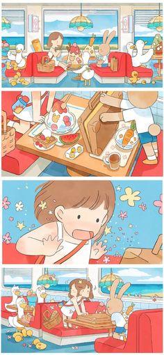 Wallpaper Wa, Wallpaper Iphone Cute, Illustration Story, Character Illustration, Kawaii Drawings, Cute Drawings, Cool Pictures For Wallpaper, Dibujos Cute, Learn Art