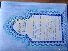 Waldorf ~ 5th grade ~ Ancient Persia ~ Poem ~ main lesson book