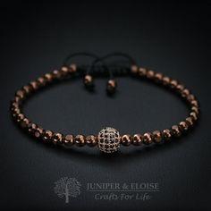 Mens Bracelet  Womens Jewelry Bronze Hematite by JuniperandEloise
