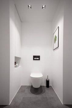 toilette wc et déco design minimaliste