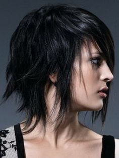 Amazing Emo Haircuts My Hair And Medium Dark Hair On Pinterest Short Hairstyles For Black Women Fulllsitofus