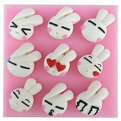 Rabbit Face Series Shaped Fondant Cake Chocolate Silicone Mold,Cupcake Decoration Tools,L9.6cm*W9.5cm*H1.5cm by RUSTIKOcakeDecoratio on Etsy