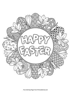 Easter Coloring Pages EBook Happy PagesAdult PagesEaster PrintablesFREE