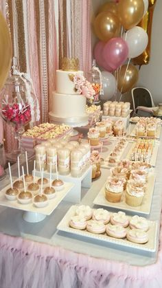 A beautiful and delicious candy and dessert bar perfect for any event! #candybar #dessertbar #bridalshower #babyshower #birthdayparty #quinceanera #anniversaryparty #weddingday