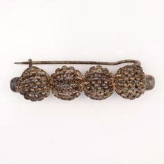 Antique-C-1880-Victorian-Sterling-800-Silver-Etruscan-Filigree-Brooch-Pin
