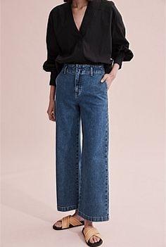 Women's Pants | Cargo, Palazzo & Silk Pants - Country Road Online Silk Pants, Women's Pants, Trousers, Kick Flare Jeans, Pants For Women, Clothes For Women, Shoe Size Conversion, Wide Leg Jeans, Modest Fashion
