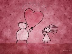 The Two and The Valentine · Обои на рабочий стол · Vladstudio