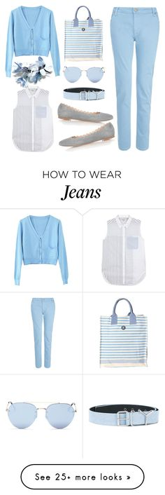 """""""Light Blue Style"""" by fsjamazon on Polyvore featuring dVb Victoria Beckham, 3.1 Phillip Lim, WithChic, Barbour, Y/Project and Quay"""