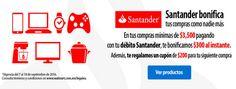 Walmart: bonificación de $300 con Santander + cupón de $200 de regalo   Promocion Descuentos