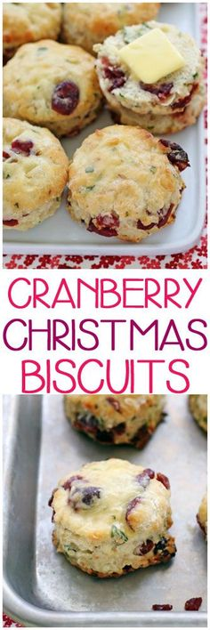 Cranberry Christmas Biscuits #christmas