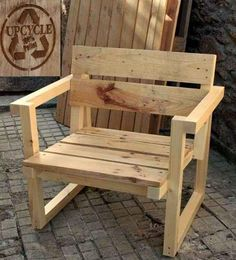 Armchair made from pallet wood